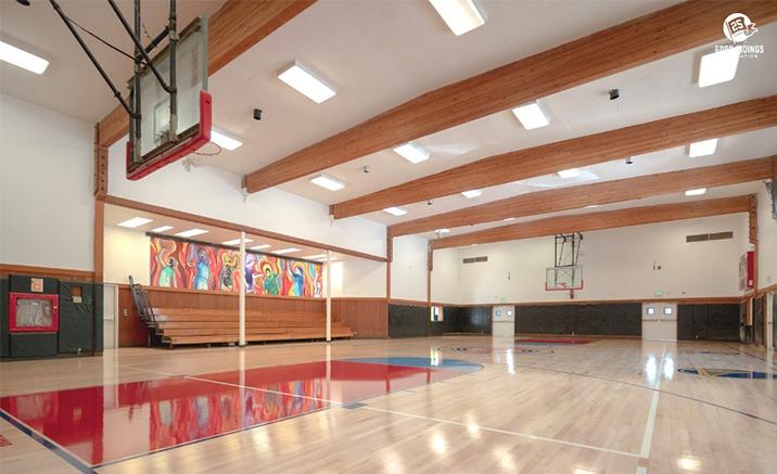 Marin City Community Center Indoor Basket Ball Court